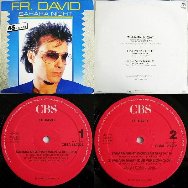 "F .R. David  Sahara Night Maxi Single 12"" 1986 Flac Kkk-4596e6b"