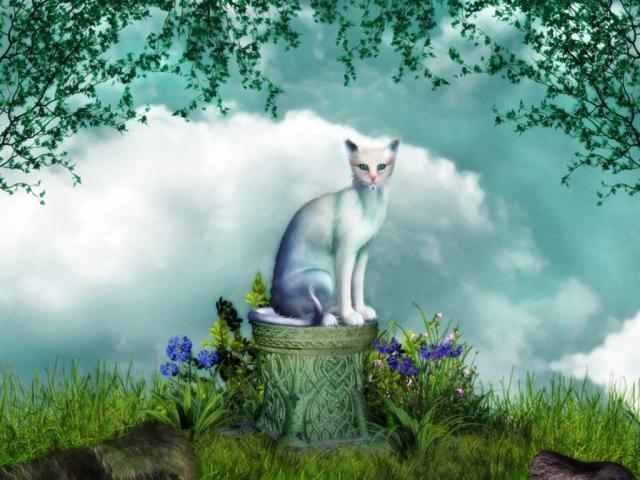 Chats Enchantés Fantasy-cat-scene...99848-1--4550593
